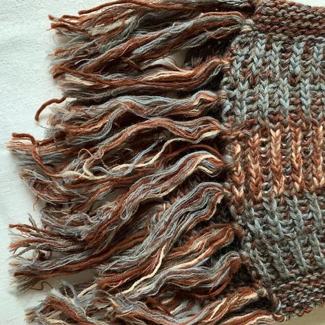Шарф вязанный с кистями шерсть Новый