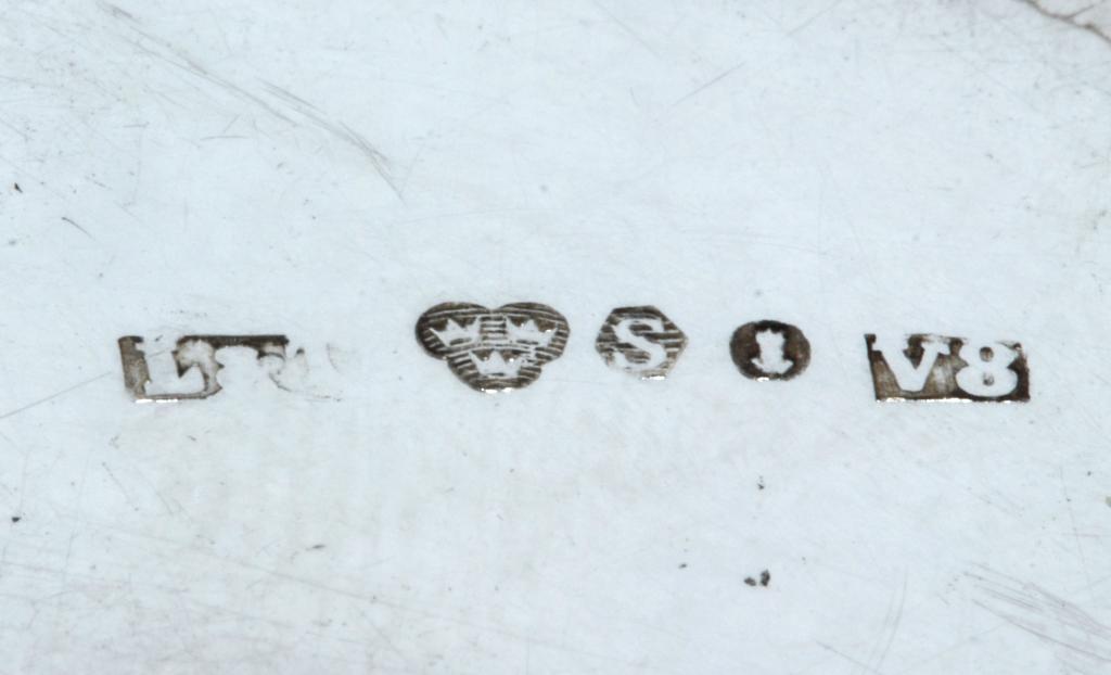 Серебряные стопки, 2 шт.  Швеция, 1947 год