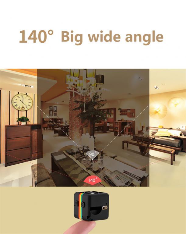 Мини HD Видеокамера SQ11 1080P - Веб-Камера.