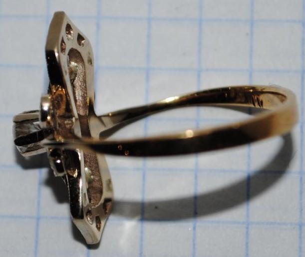 Кольцо - золото, бриллианты (СССР, середина ХХ в.)