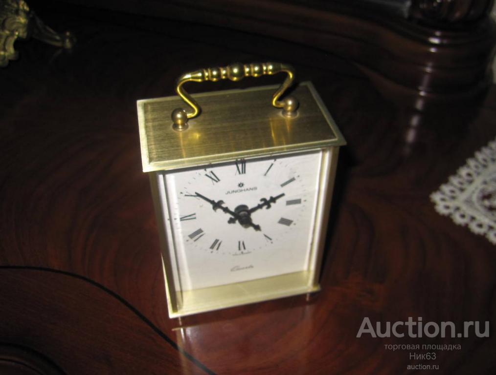 Часы Настольные Junghans Юнгханс Германия. Бронза. Тип Каретные.