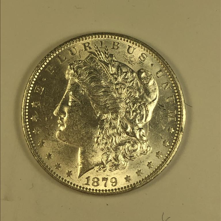 1 доллар 1879 года. США. Серебро. СОСТОЯНИЕ! Старт с 1 рубля.