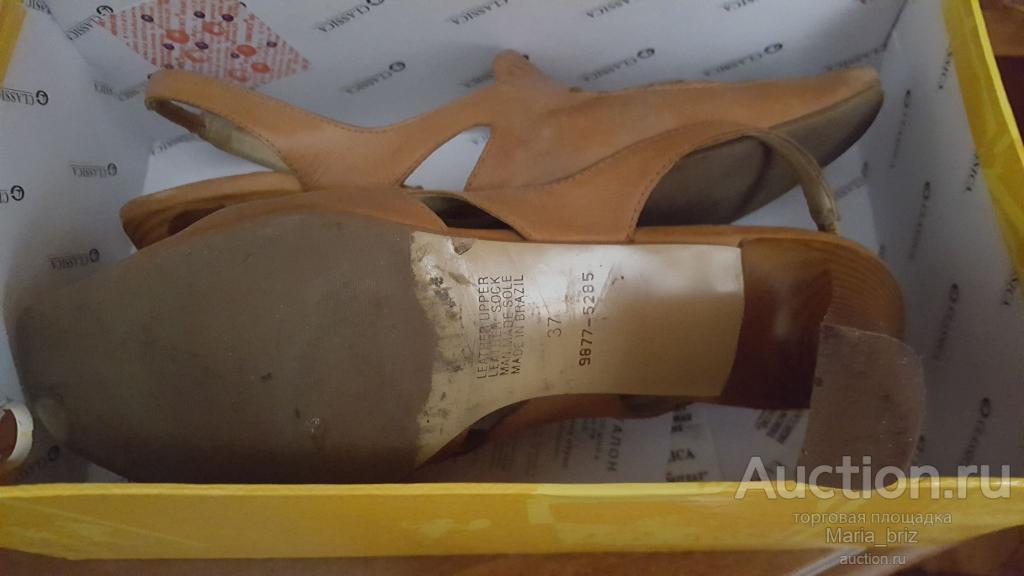 Лот из 2 Босоножки + туфли  натуральная кожа Бразилия 37-38 по стельке 25.5