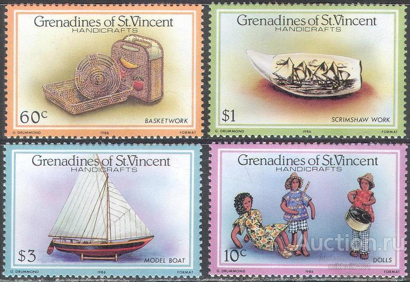 С5512 ✅ Флот Парусники Корабли Игрушки Куклы 1986 Сент-Винсент Гренадины 4м п/с **