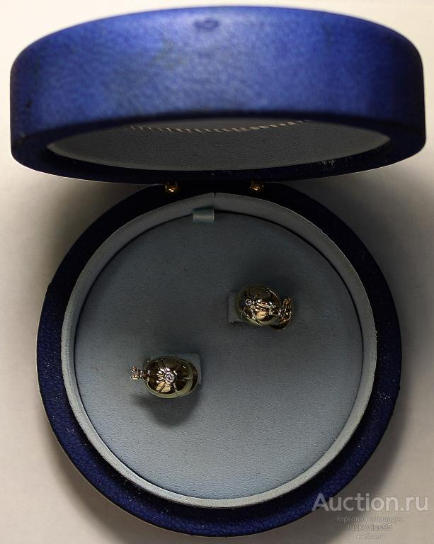 """Золотые запонки """"PIAGET"""" в виде жокейской кепки. Золото 750 пробы - 15.93 г. 2 бриллианта."""