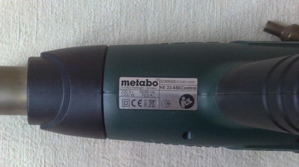 Строительный фен Metabo HE 23-650 Control.