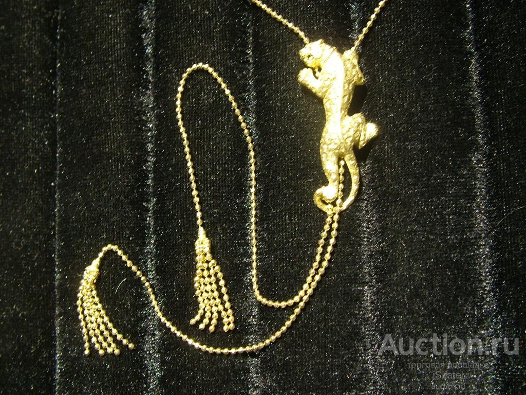 Колье Леопард Золото 750 проба