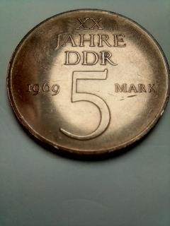ГДР.5 МАРОК 1969 ГОД