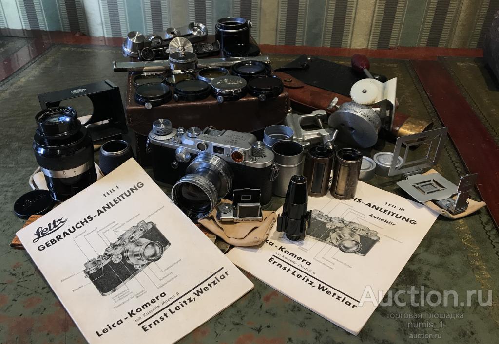 Камера Leica IIIb комплект в кейсе с аксессуарами 1939 год.