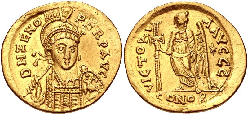 SALE! Солид. Византия. Император Флавий Зенон. AD 476-491.