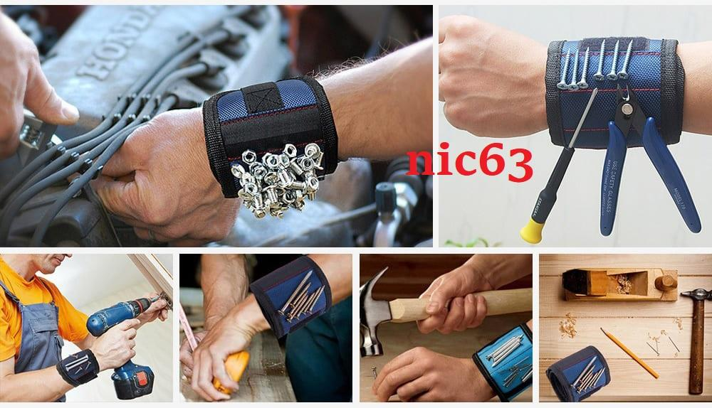 Магнитный строительный браслет на руку с неодимовыми магнитами для ремонта