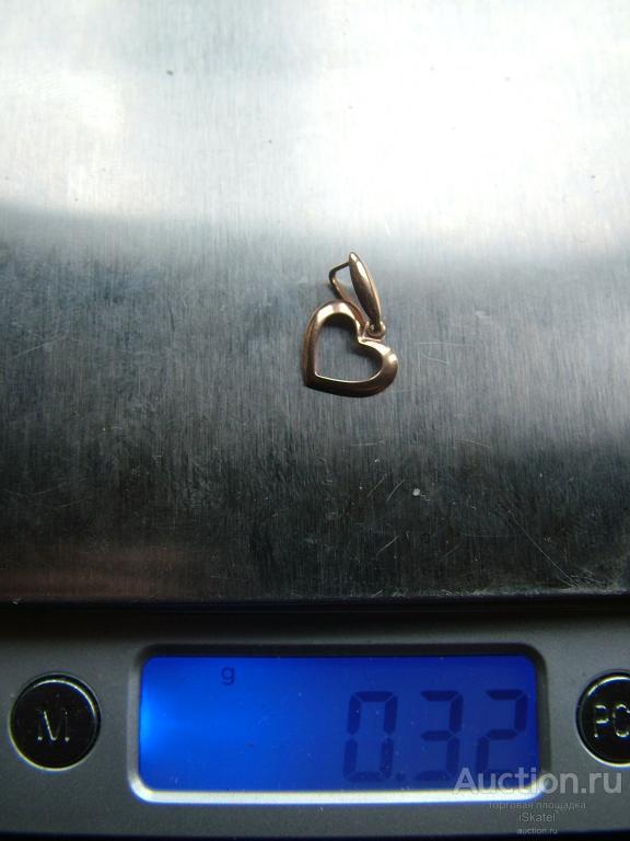 Кулон Сердце ЗОЛОТО 585 проба. 0.32 г.