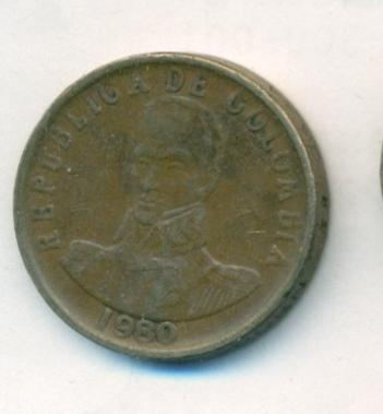 Колумбия 2 песо 1980 г. КМ-263