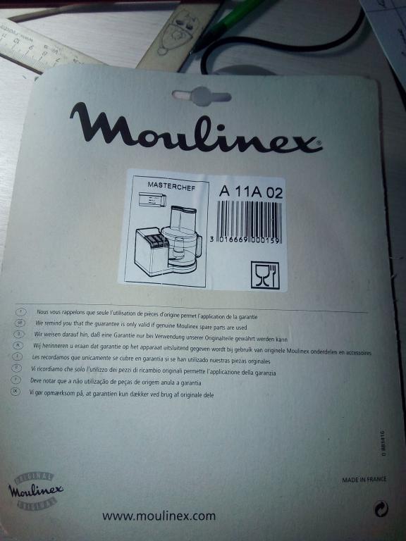 MA-A11A02 (Держатель дисков и шток для кухонного комбайна Moulinex)
