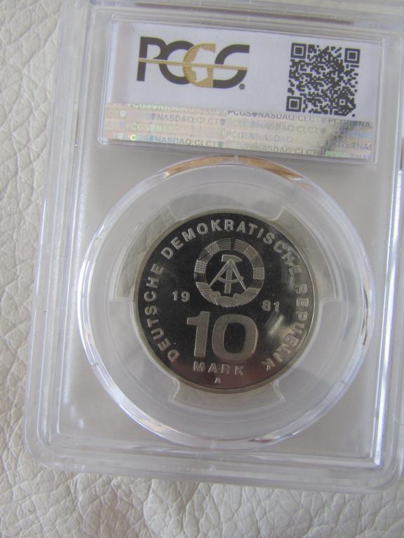 ГДР - 10 марок - 1981 года - 25 лет армии и флоту Германская демократическая республика pcgs слаб PP