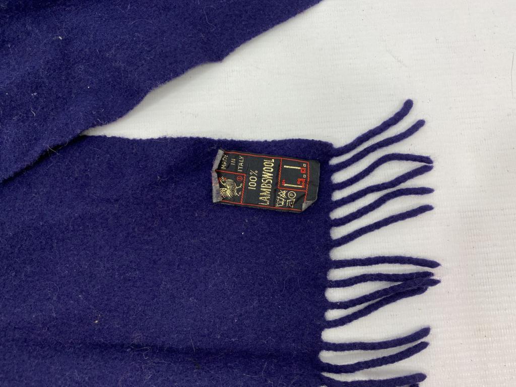 Шарф синий стильный качественный, made in Italy,шерсть, Отл сост,