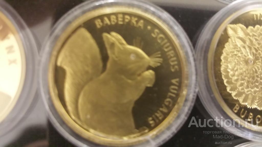 Белка Золото 999 с бриллиантом 2009 Беларусь 50 рублей + сертификат