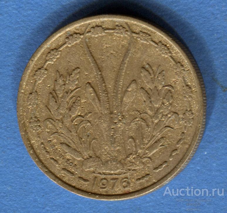 Центральная Африка 25 франков 1976 год Скат