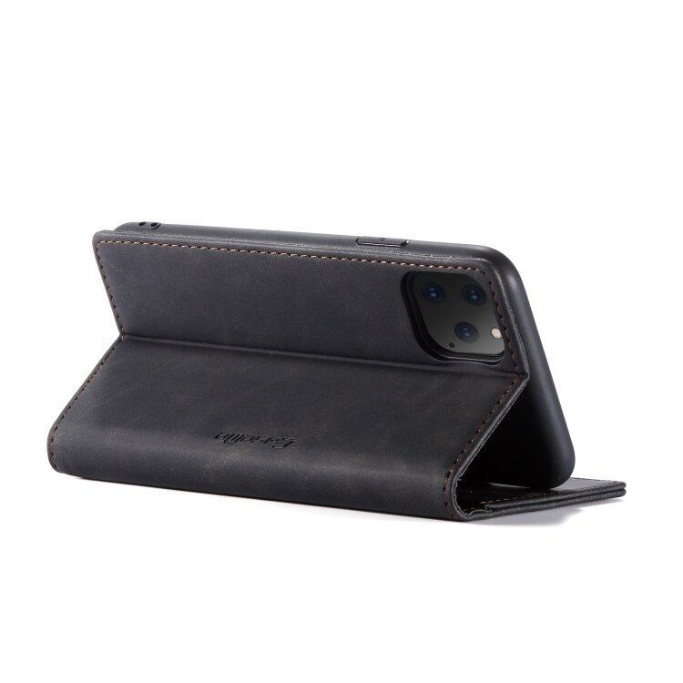 Кожаный чехол книжка CaseMe для iPhone 11 Pro с подставкой и разъемом для карточек (Black)