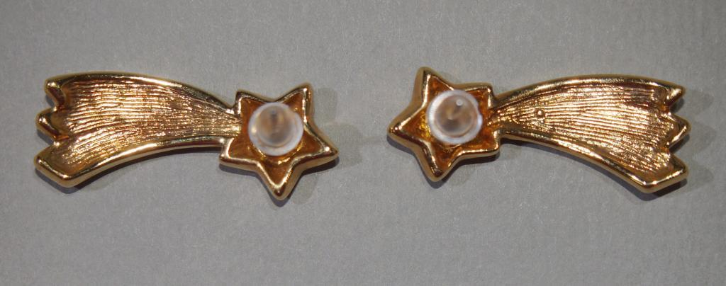Серьги - пусеты винтажные - Падающая звезда - Европа - сережки гвоздики винтаж