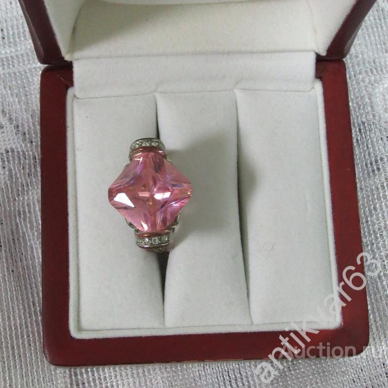 Кольцо «Розовый кварц», СССР,  бижутерия, винтаж.