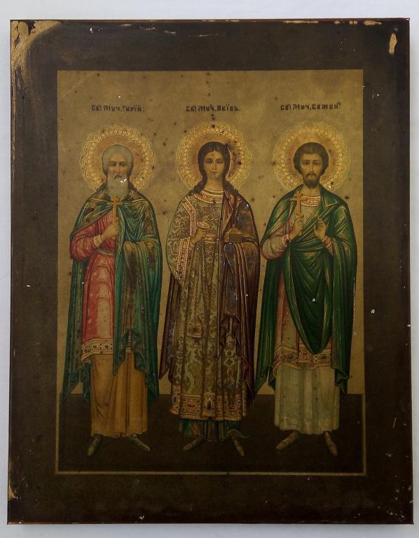 ИКОНА  *ГУРИЙ,САМОН И АВИВ* 1898 ГОД.