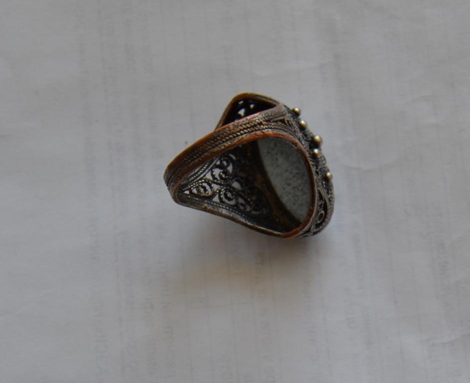 Кольцо Перстень Скань Финифть Винтаж