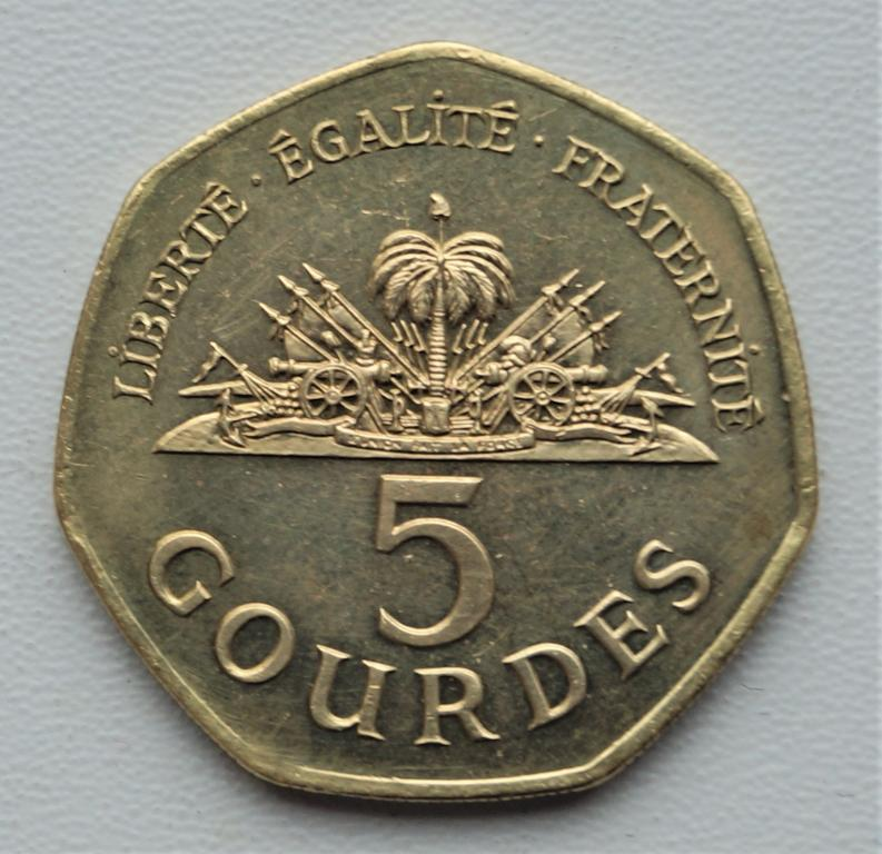 Гаити 5 гурдов 1998