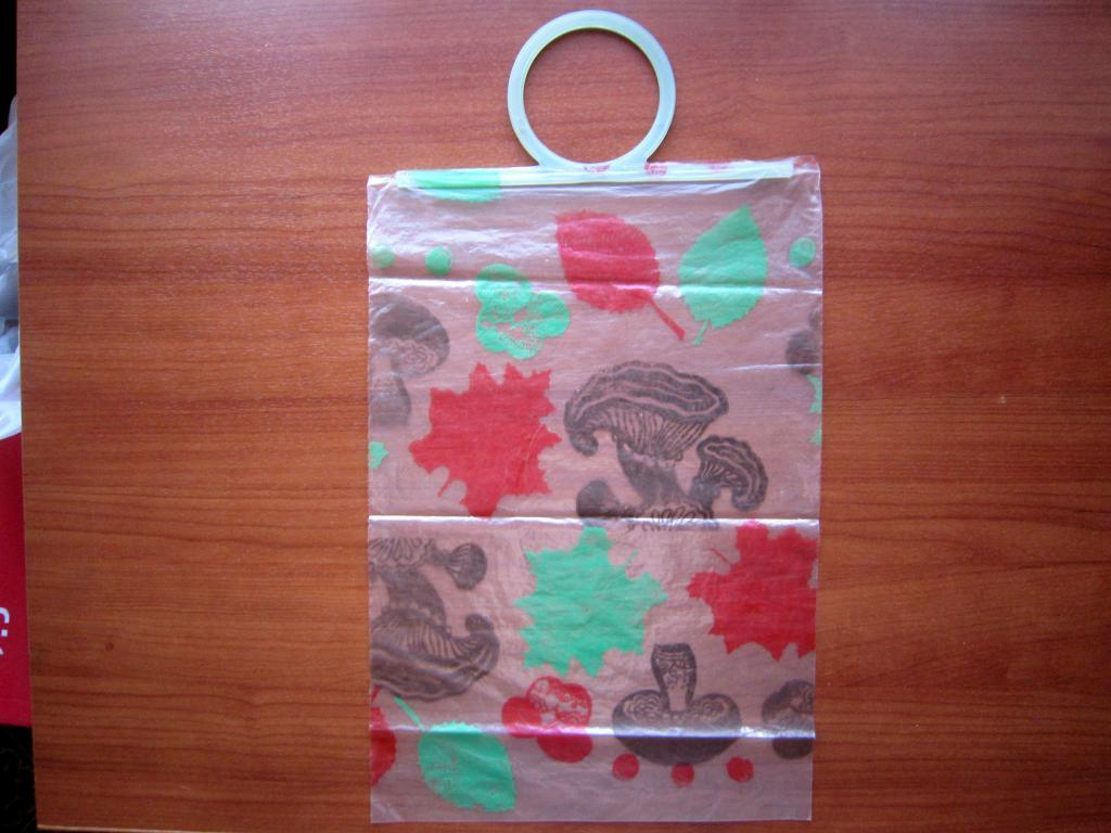 Сумка Пакет полиэтиленовый Новый Сделано в СССР Осень лес грибы листья для пищевых продуктов