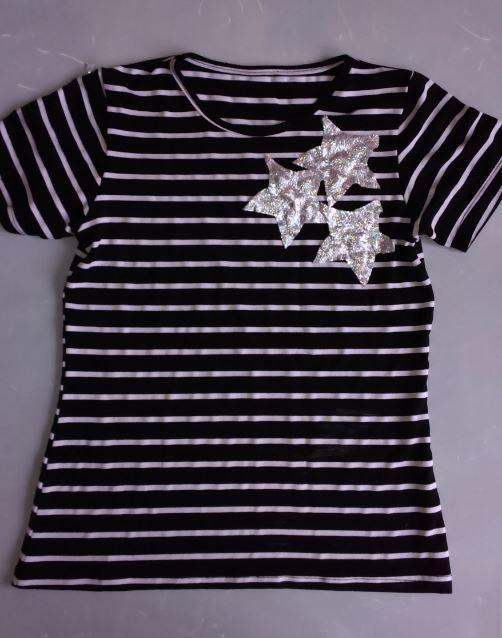 Ретро-футболка со звездами, р.44-46