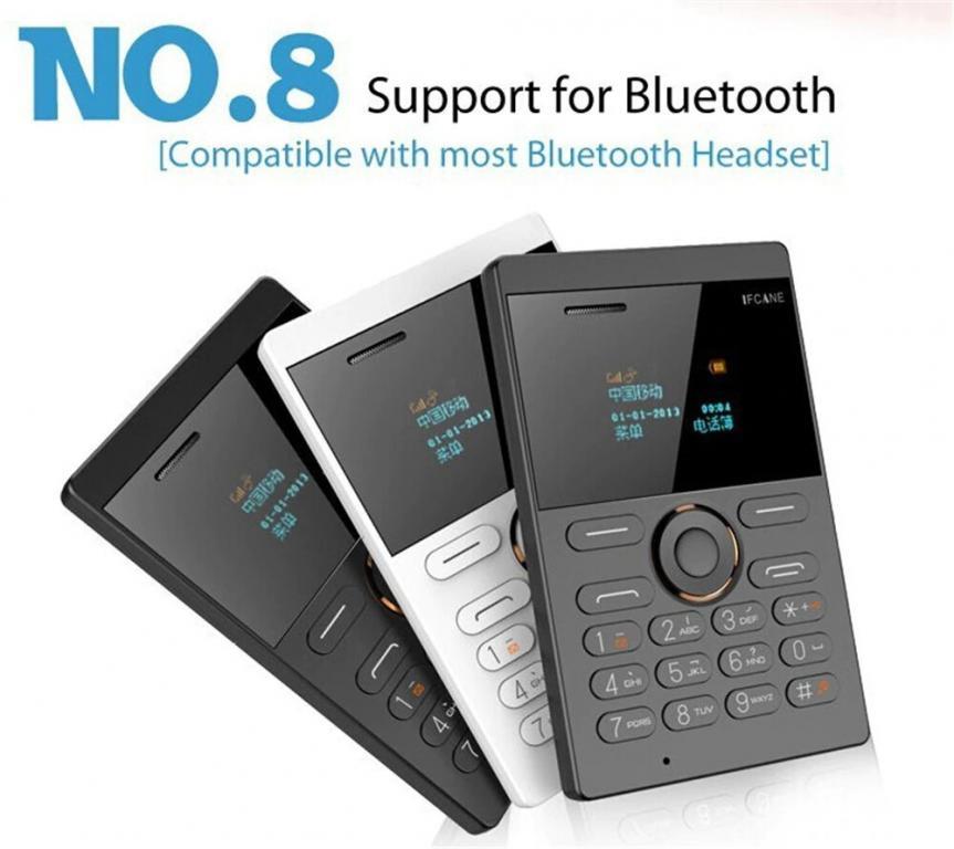 Ультратонкий Ультра маленький GSM Мобильный Телефон-Кредитка IFcane E1! Полностью Русифицированный.