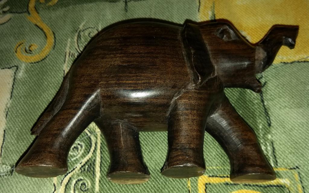 """Фигурка статуэтка """"слоник"""" черное дерево резьба Африка 1980-ые"""