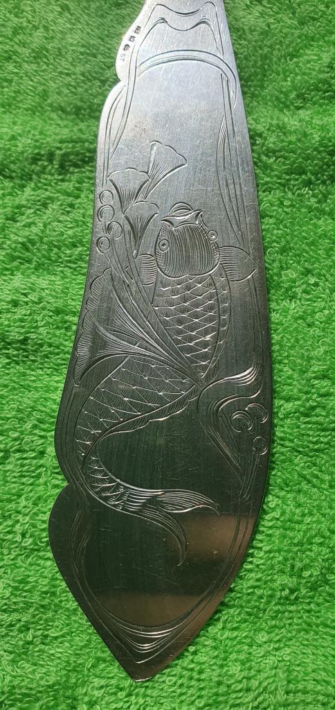 Нож - лопатка сервировки рыбных блюд, 1910 год, Швеция