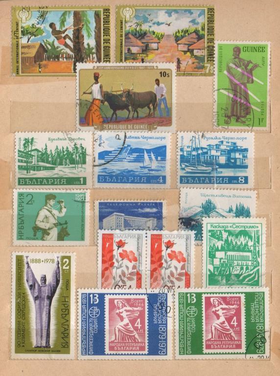 Марки Гвинеи, Болгарии 1960 - 2000 хх годов... Подборка из 16 марок