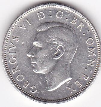 Великобритания 2 шиллинга 1946 Отличные