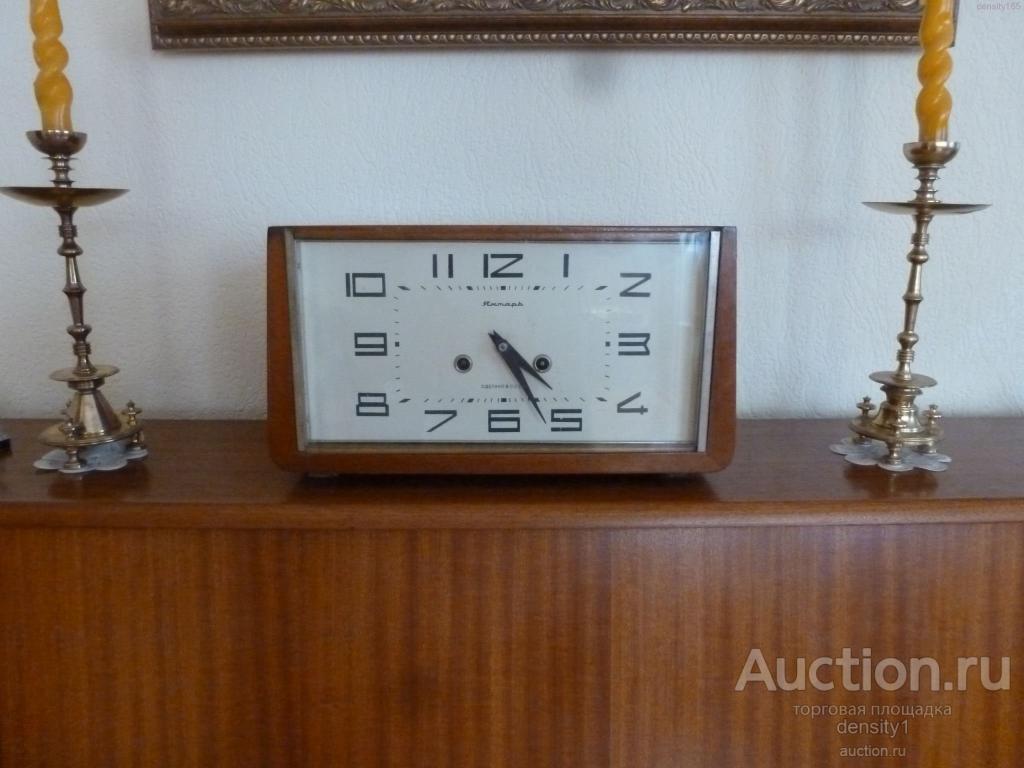 каминные (настольные) советские часы Янтарь с боем
