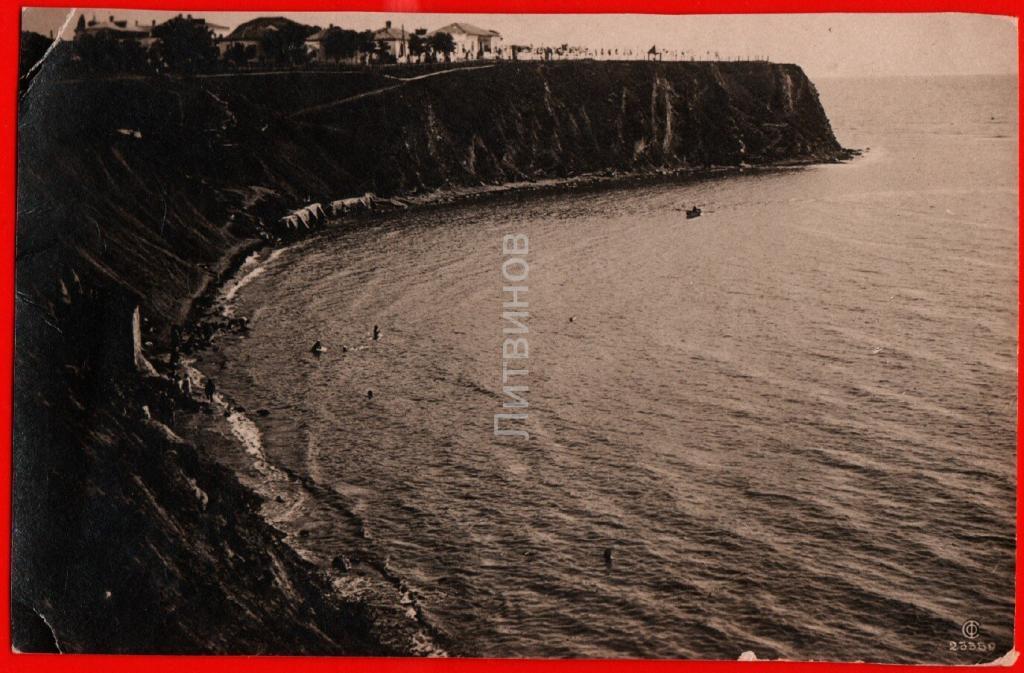 28809 Анапа 1937 Вид на высокий берег фото пляж море Союзфото чистая