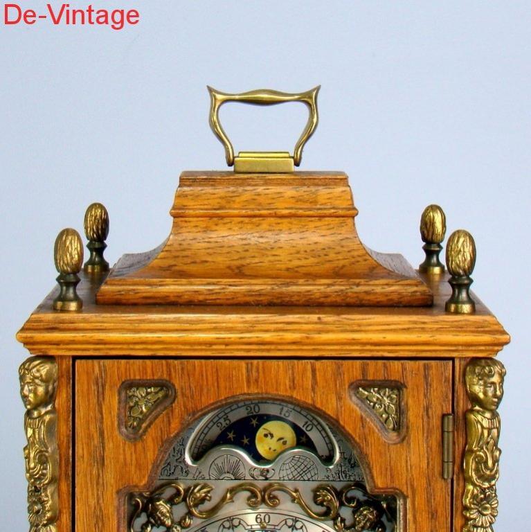 Механические каминные часы Wuba, настольные предметы интерьера, декор, коллекция, барельеф, Германия