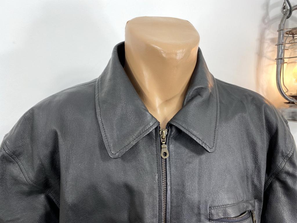 Куртка кожаная черная, стильная, New Port, Разм 44 (XL), Оч хор сост!