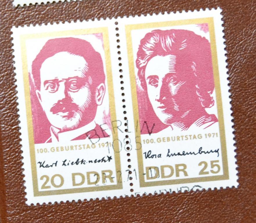 ГДР 1971 Mi 1650-51. 100 лет со дня рождения Розы Люксембург и Карла Либкнехта СТО