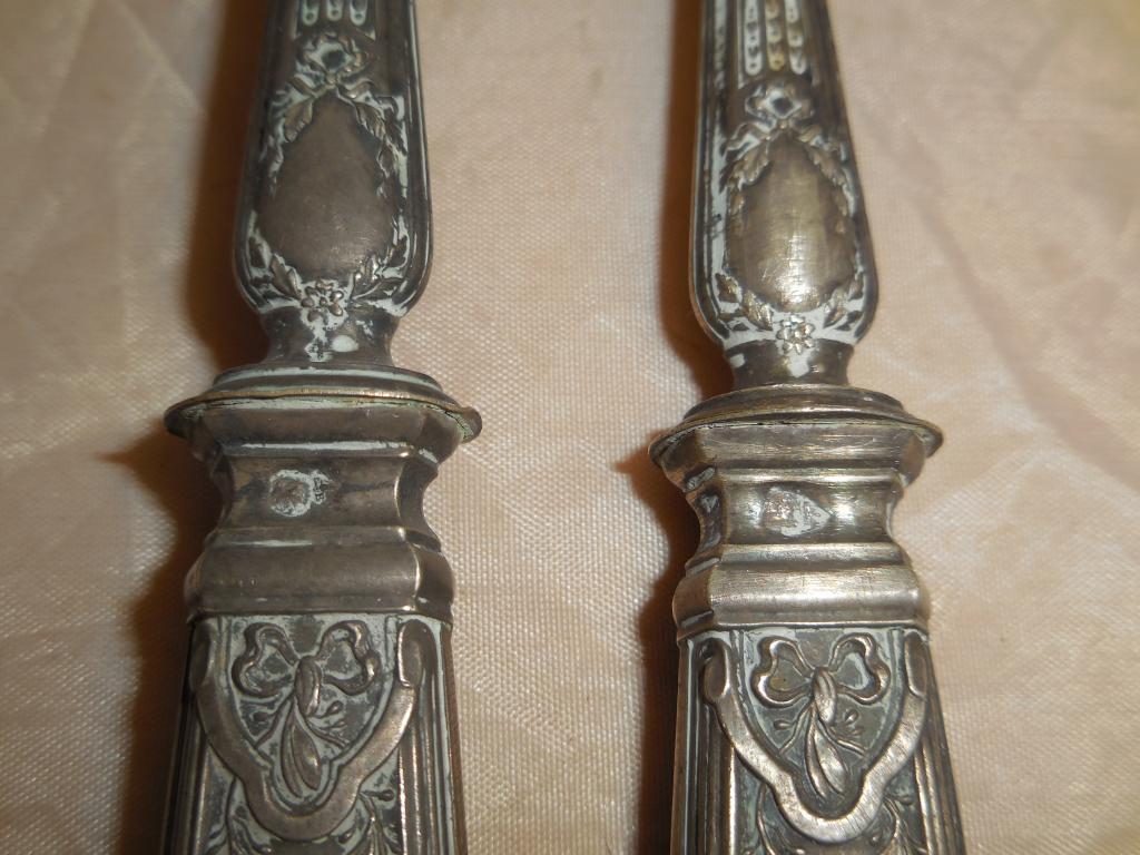 Набор столовый эгоист - вилка + ложка, рог оленя, кость, Франция, 1880 - 1910 годы (оригинал) - 2