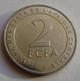 Центральная Африка 2 франка 2006 г