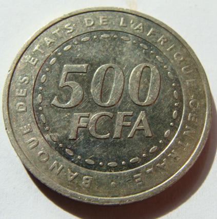 Центральная Африка 500 франков 2006 г