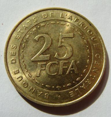 Центральная Африка 25 франков 2006 г