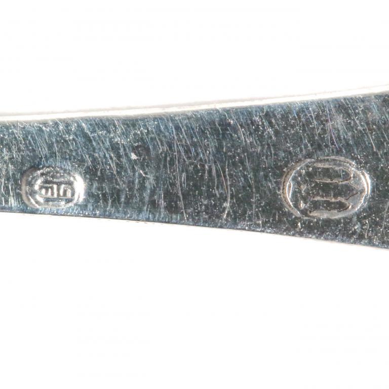 Серебряная ложка для специй или соли. Дания.