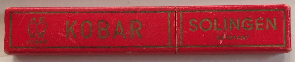 Опасная бритва SOLINGEN KOBAR - трофейная - Made in Germany - в родном фирменном футляре