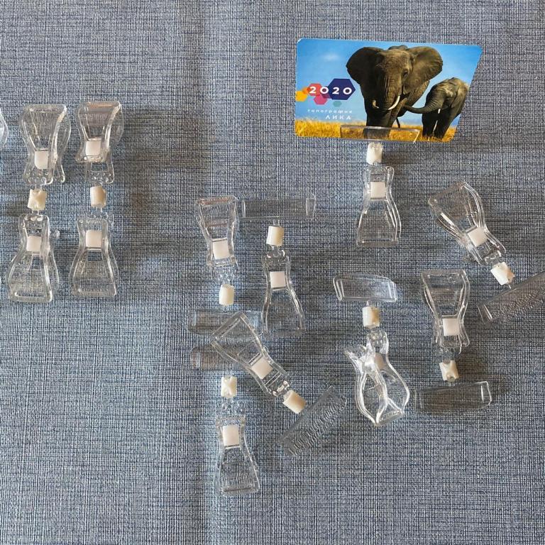 Шарнирные ценникодержатели 24 шт. От 1 рубля