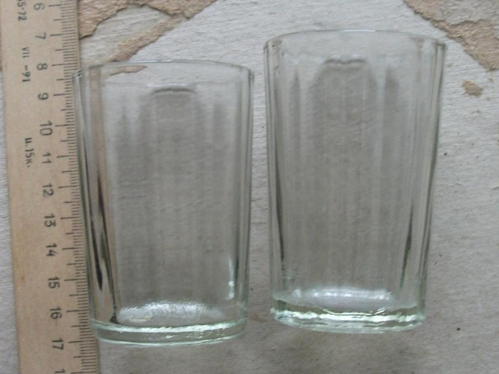 Стопка рюмка набор 2шт варианты 14 грананная Уршельский стекло клеймо СССР