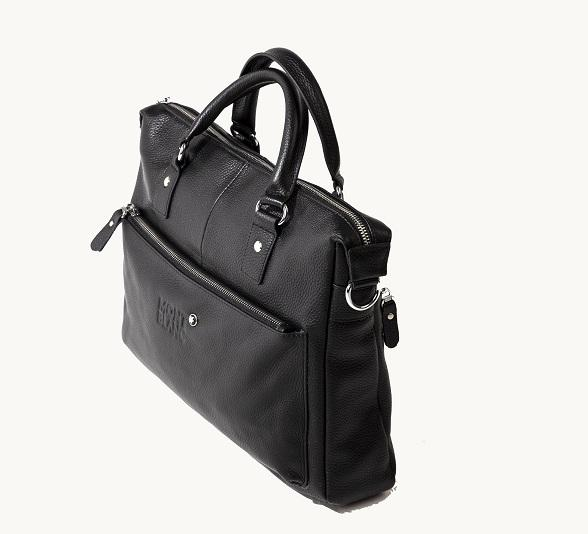 Montblanc Мужская кожаная сумка Montblanc -А4-Деловая-Black-New