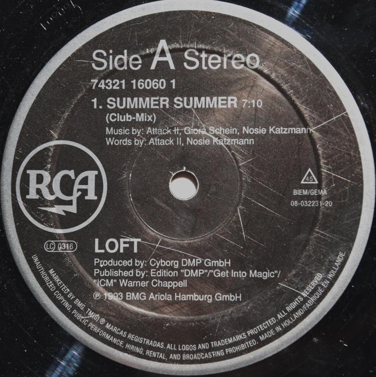 """Loft """"Summer Summer"""" 1993 Maxi Single"""